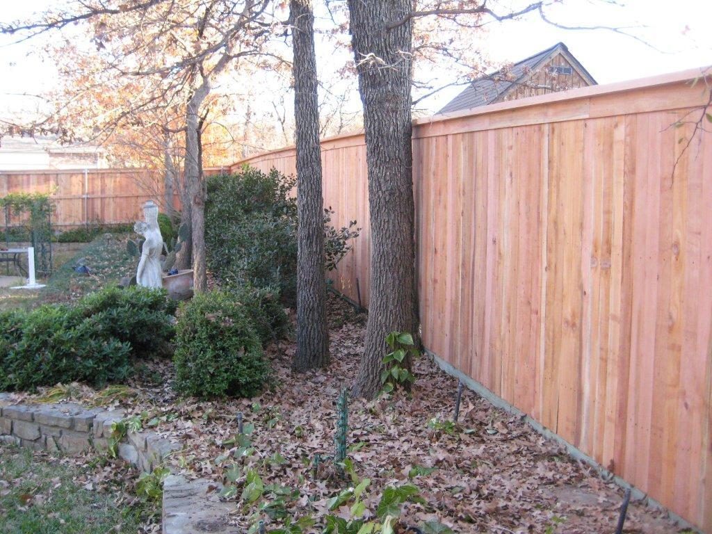 Residential Cedar Fencing In Midlothian Wood Fences