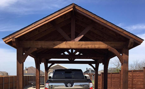 Wood Built Carports